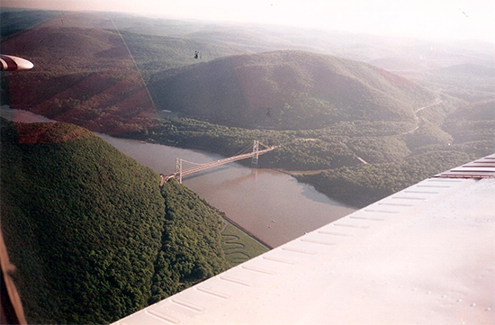 Aerial of Bear Mountain Bridge